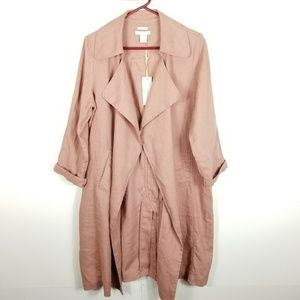Catherine Malandrino Women Linen Jacket Trench